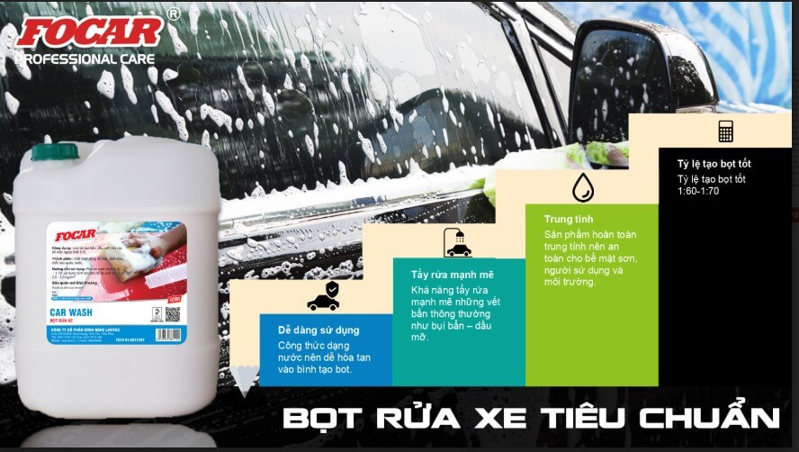 Bọt rửa xe siêu bóng, đậm đặc, an toàn