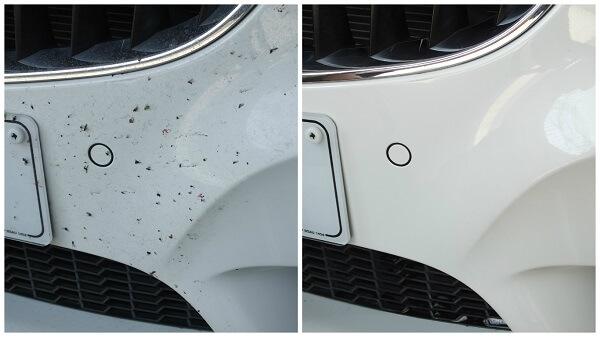 Hiệu quả trước và sau khi sử dụng dung dịch tẩy nhựa đường Focar