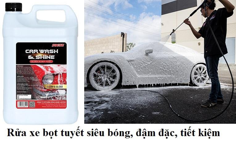 Bọt rửa xe siêu bóng là gì? Ưu điểm của bọt rửa xe siêu bóng