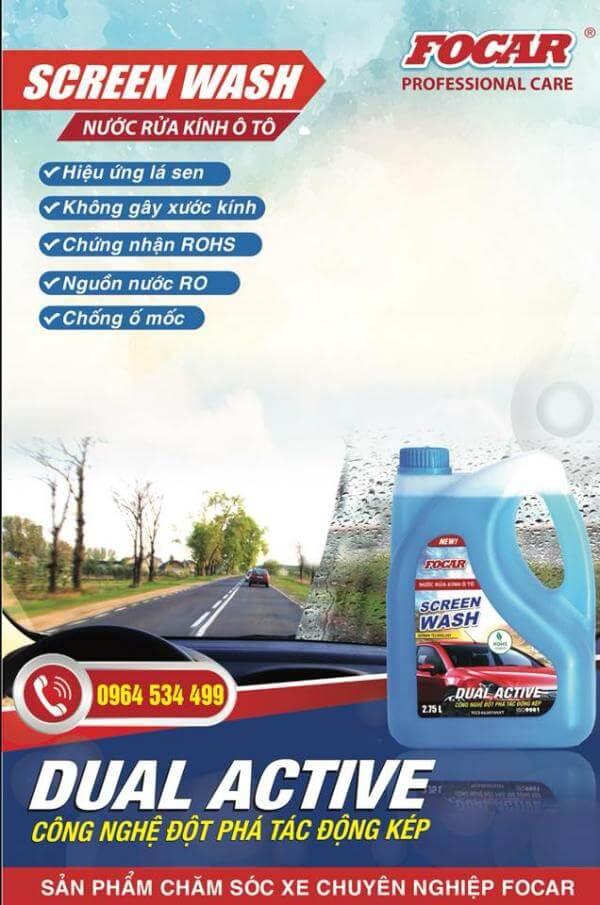 Giá nước rửa kính ô tô nơi nào hợp lý rẻ nhất?