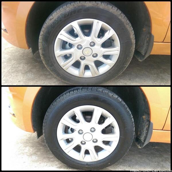 Bí quyết làm đen bóng lốp đơn giản mà hiệu quả