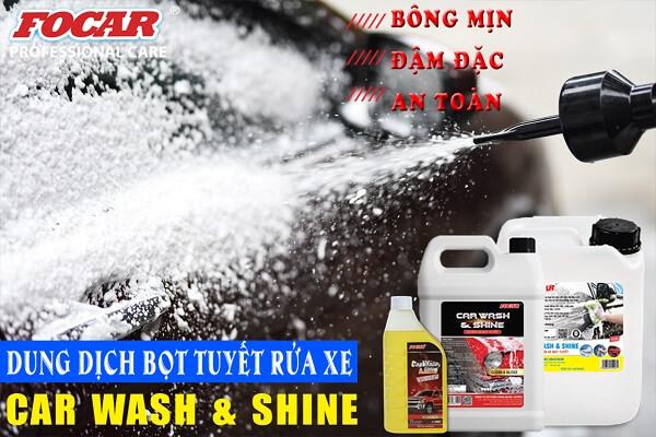 Review các loại Dung dịch bọt tuyết rửa xe ô tô xe máy HOT nhất hiện nay