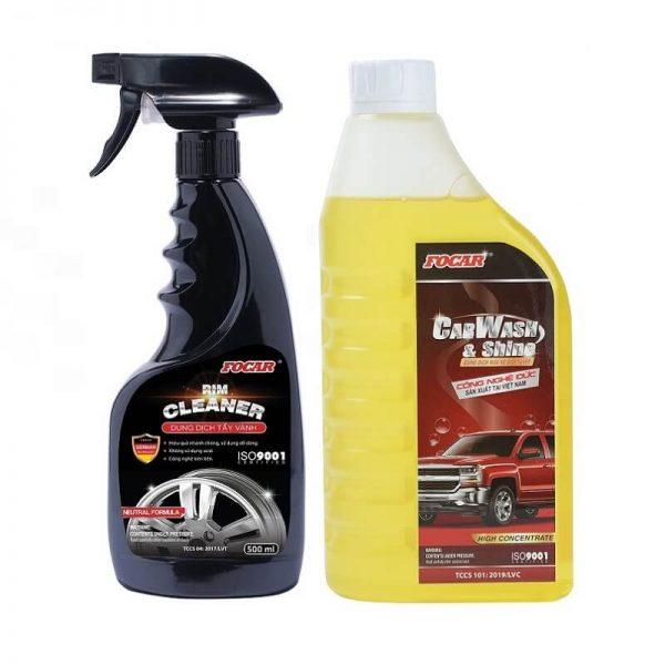 Combo ngoại thất Tẩy vành + Bọt rửa xe